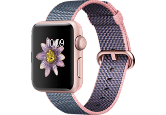 APPLE Watch Series 2 38 mm Rose Gold/Hellrosa/Mitternachtsblau (Smart Watch)