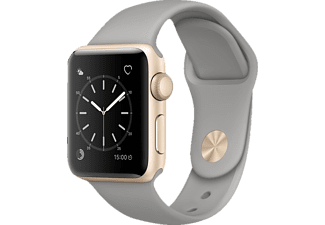 APPLE Watch Series 2 38 mm, Smart Watch, Sportband, Gold/Beton