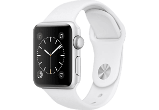 APPLE  Watch Series 2 Smart Watch Aluminium Polymer, 38 mm, Silber/Weiß