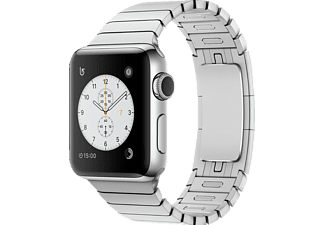APPLE Watch Series 2, Smart Watch, Edelstahl Gliederarmband, 38 mm, Silber/Silber