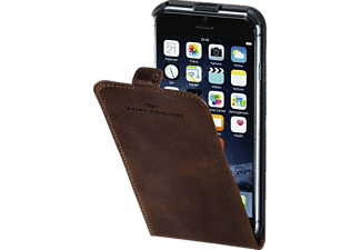 TOM TAILOR Authentic, Flipcover, iPhone 7, Obermaterial Leder, Braun