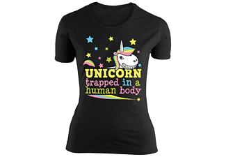Einhorn Girlie-Shirt Trapped in a human body