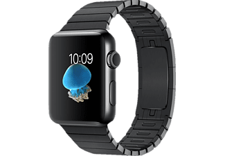 APPLE Watch Series 2 42 mm, Smart Watch, Edelstahl Gliederarmband, Schwarz/Schwarz