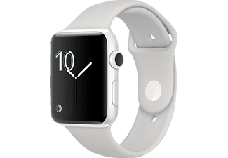 APPLE  Watch Series 2 Edition Smart Watch Keramik Sportband, 38 mm, Weiß/Wolke