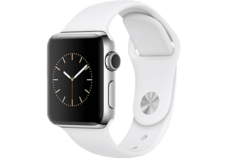APPLE  Watch Series 2 Smart Watch Edelstahl Sportband, 38 mm, Silber/Weiß
