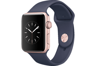 APPLE  Watch Series 2 Smart Watch Aluminium Sportband, 42 mm, Rose Gold/Mitternachtsblau