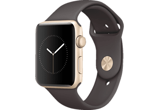 APPLE Watch Series 2 42 mm, Aluminium, Sportband, Gold/Kakao (Smart Watch)