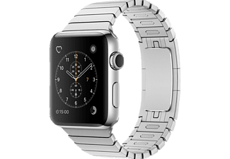 APPLE  Watch Series 2 Smart Watch Edelstahl Edelstahl Gliederarmband, 42 mm, Silber/Silber