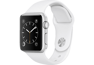 APPLE  Watch Series 1 38 mm, Smart Watch, Sportband, Silber/Weiß