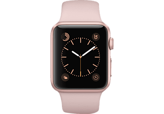 APPLE Watch Series 1, Smart Watch, Sportband, 38 mm, Rosegold/Pink Sand