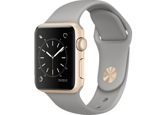 APPLE  Watch Series 1 Smart Watch Aluminium Sportband, 38 mm, Gold/Beton