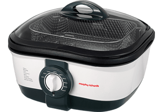 MORPHY RICHARDS 48615 EE Intellichef 8 in 1 Multikocher (1500 Watt, 5 Liter, Weiß/Schwarz)