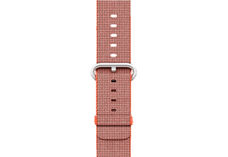 APPLE Nylonband, Armband, Apple, Watch (38 mm Gehäuse), Orange/Anthrazit