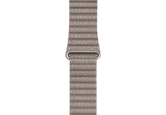 APPLE Echtlederband, Armband, Apple, Watch (42 mm Gehäuse), Grau