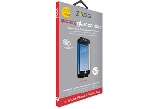 ZAGG Contour Glass iPhone 7 Plus - Vit