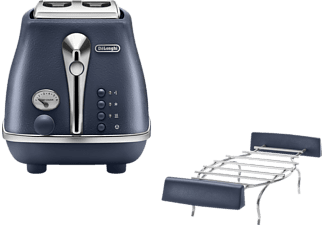 DELONGHI CTOE 2103.BL Icona Elements Toaster Ocean Blue (900 Watt, Schlitze: 2)
