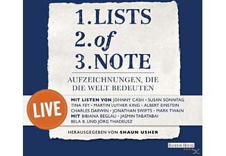VARIOUS - Lists Of Note (Live) - (CD)