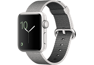 APPLE Watch Series 2 38mm zilver aluminium / parelgrijs nylonbandje