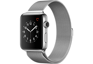 APPLE Watch Series 2 42mm roestvrij staal / Milanees bandje