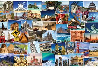 World Globetrotter Poster Postkarten Collage Reiseziele