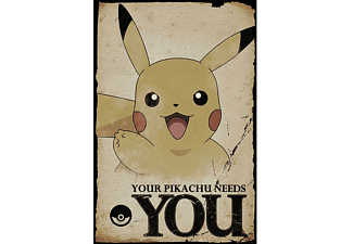 Pokémon Poster Pikachu Pikachu Needs You