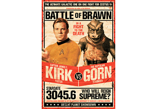 Star Trek Poster Kirk vs Gornstar