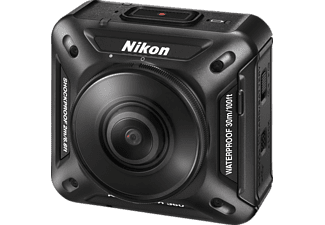NIKON KeyMission360 4K/UHD-Video Actioncam, WLAN, Near Field Communication, Schwarz