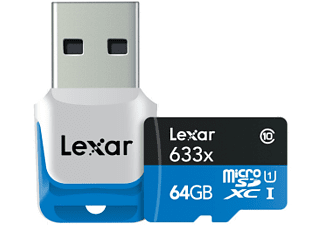 LEXAR MicroSDHC UHS-I High Speed with Adapter (Class 10) 64GB - (936048)