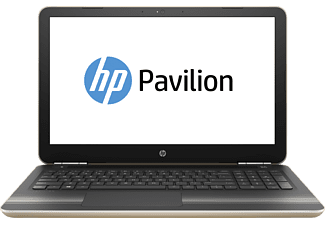 HP Pavilion 15-au137ng, Notebook mit 15.6 Zoll Display, Core™ i5 Prozessor, 16 GB RAM, 1 TB HDD, 128 GB SSD, NVIDIA® GeForce® 940MX, Gold