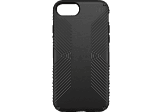 SPECK PRESIDIO GRIP, Backcover, iPhone 7, Kunststoff, Schwarz