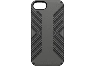 SPECK PRESIDIO GRIP, Backcover, iPhone 7, Kunststoff, Grau