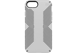 SPECK PRESIDIO GRIP, Backcover, iPhone 7, Kunststoff, Weiss/Grau
