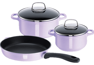 ROHE GERMANY 262172-03 Violet Flame 3-tlg. Topf-Set (Aluminiumguss)