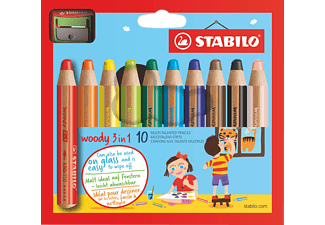 STABILO 880/10-2 Woody 10er Etui m Spitzer Multitalentstift