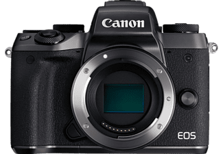 CANON EOS M5 Body + Mount Adapter EU26 Systemkamera, 24.2 Megapixel, Full HD, HD, VGA, CMOS Sensor, Externer Blitzschuh, Near Field Communication, WLAN, Autofokus, Touchscreen, Schwarz