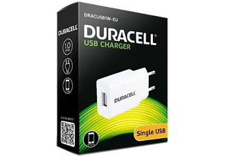 DURACELL Travel Charger with Single USB 2.1A White