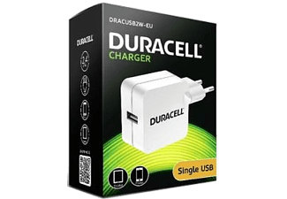 DURACELL Travel Charger with Single USB 2.4A White