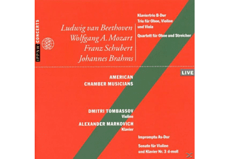 Markovich, American Chamber Musicians, Tombassov - Beethoven,Mozart,Schubert,Brahms - (CD)