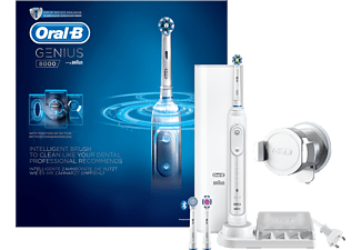 ORAL-B Genius 8000 CrossAction Eltandborste - Vit