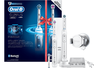 ORAL-B Genius 8900 CrossAction Duo Eltandborste - Vit