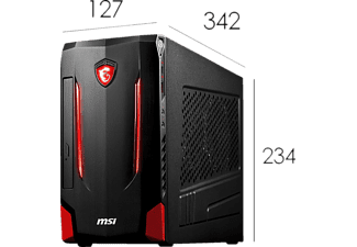 MSI Nightblade MI2-209DE, Gaming-Desktop mit Core™ i7 Prozessor, 8 GB RAM, 1 TB HDD, 128 GB SSD, GeForce GTX 1070, 8 GB GDDR5 Grafikspeicher