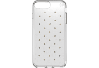 SPECK PRESIDIO, Backcover, iPhone 7 Plus, Kunststoff, Silber/Transparent