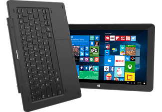 TREKSTOR SURFTAB® TWIN 11.6 / Volks-Tablet LTE, Convertible mit 11.6 Zoll, 32 GB Speicher, 2 GB RAM, LTE, Windows 10 Home, Schwarz