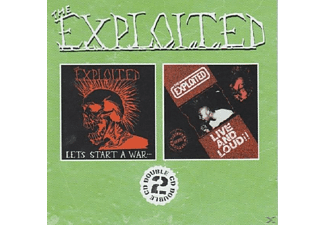 The Exploited - Let's Start A War/Live And Loud - (CD)