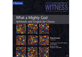 Philip Vocalessence/brunelle - What A Mighty God/Spiritals And Gospels For Chorus - (CD)