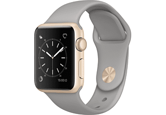 APPLE Watch Series 1 38mm goud aluminium / betongrijs sportbandje
