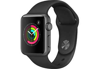 APPLE Watch Series 1 38mm spacegrijs aluminium / zwart sportbandje
