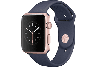 APPLE Watch Series 1 42mm rosegoud aluminium / middernachtblauw sportbandje
