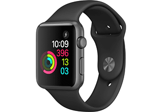 APPLE Watch Series 1 42mm spacegrijs aluminium / zwart sportbandje