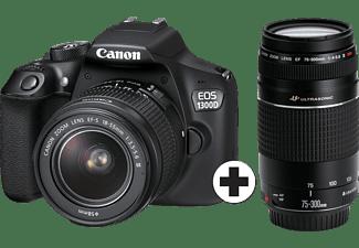 CANON EOS 1300D Zwart + EF-S 18-55mm + EF 75-300mm + 8GB + Irista + Tas